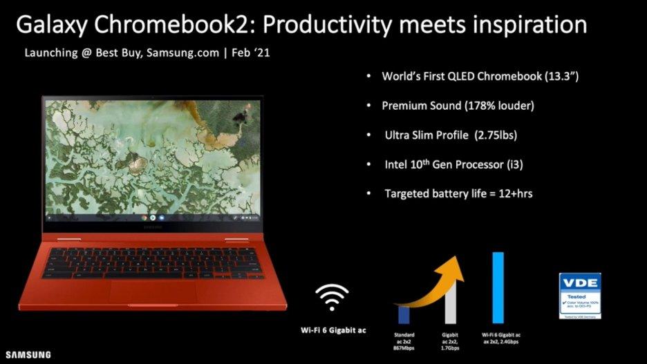 Samsung Galaxy Chromebook 2 Features