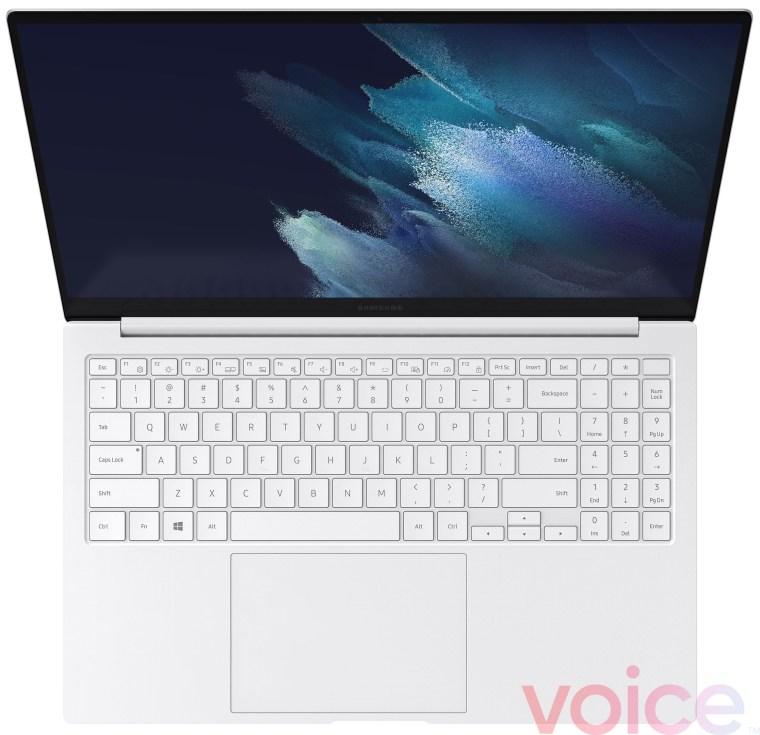 Samsung Galaxy Book Pro White Keyboard Trackpad