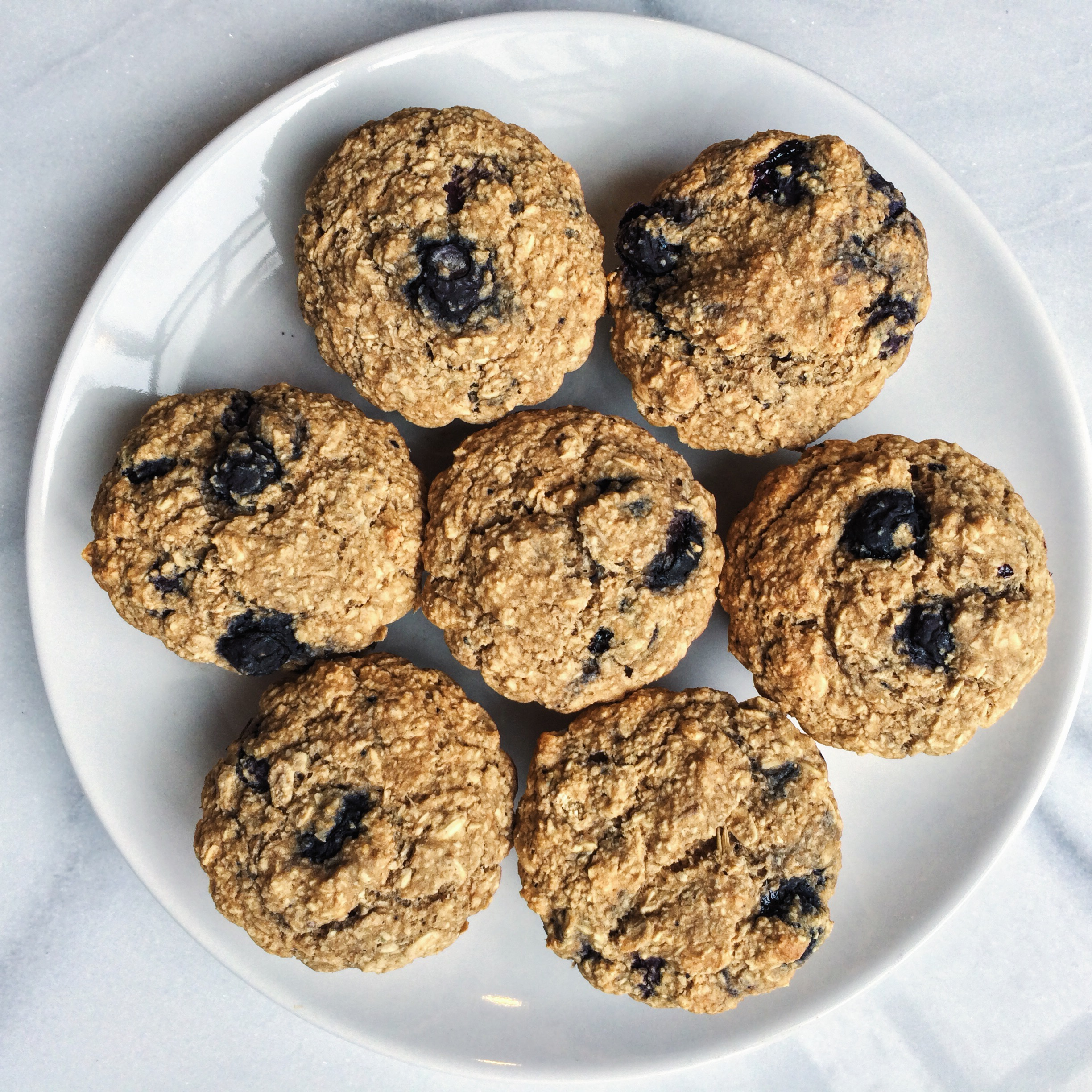 Oatmeal Blueberry Muffins (Vegan, GF + Oil-free)