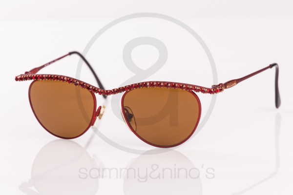 vintage Moschino by Persol MM843 red stones sammyninos 1