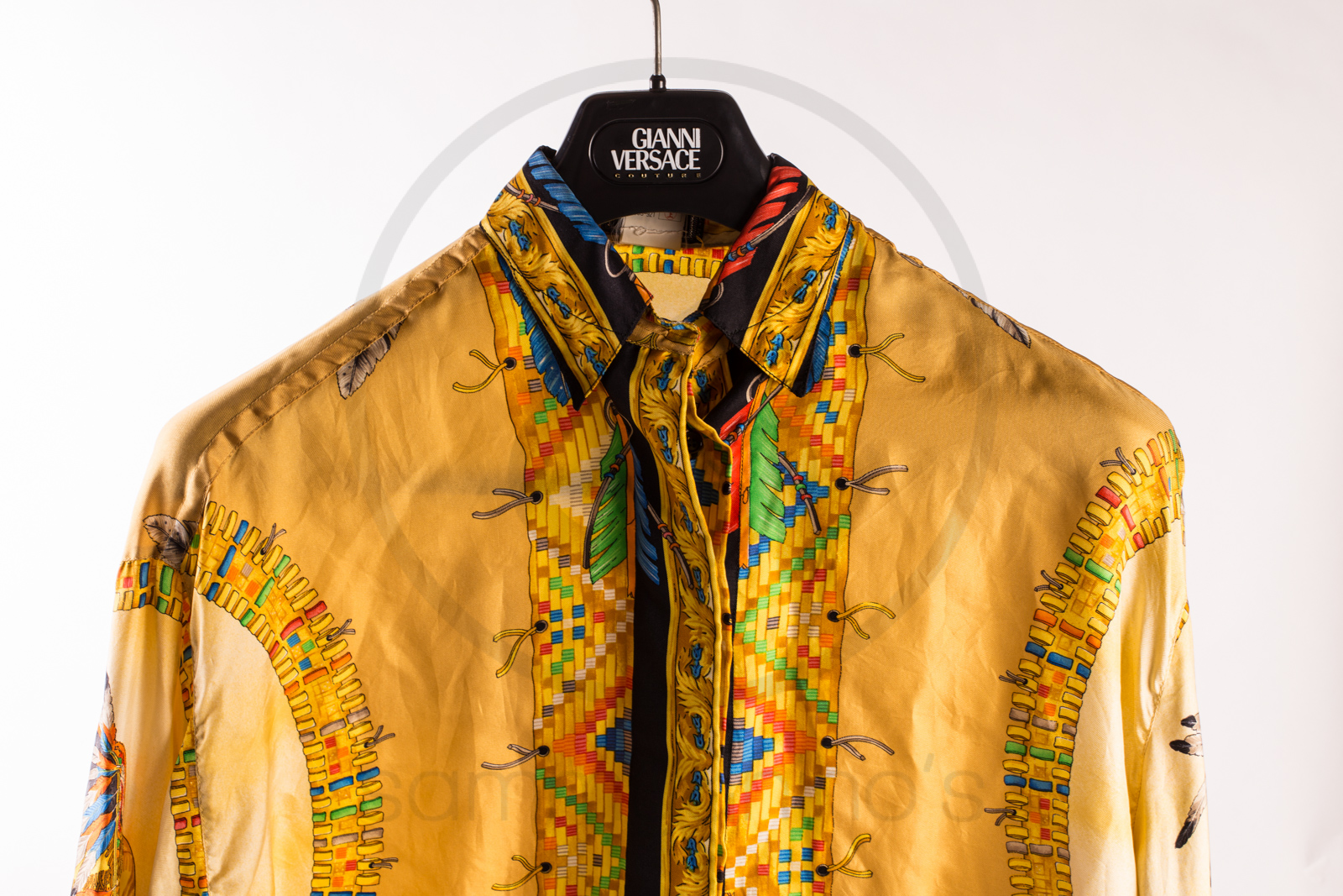 "e7d87615 Gianni Versace silk shirt ""Indian"" – Sammy & Nino's Store"