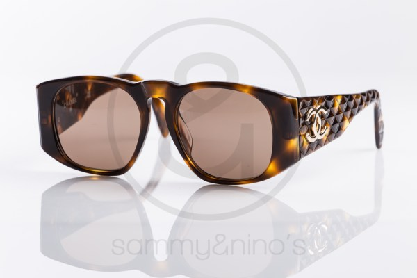 vintage Chanel 01450 sunglasses brown gold sammyninos 1
