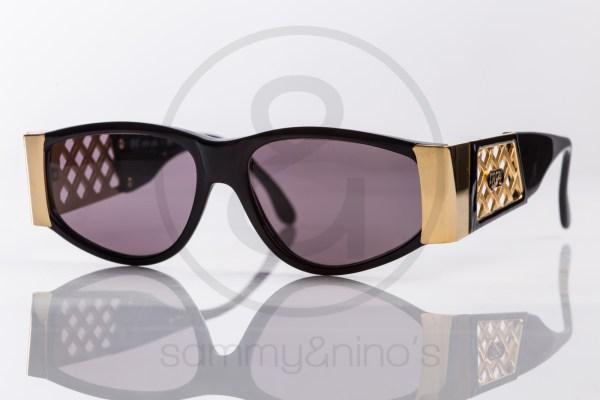 vintage BrillArte 1020 sunglasses frames black gold sammyninos 1