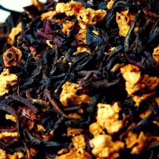Organic Tart Peach Black Tea - Ingredients Macro