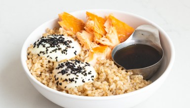 Salmon, Eggs & Rice Bowl