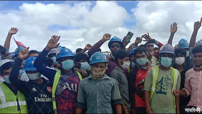 Kalapara photo Security guard injured guard box ransacked at under construction power generation plant in Kalapara of Patuakhali district 3 পটুয়াখালীর কলাপাড়ায় নির্মানাধীন বিদ্যুৎ কেন্দ্রে সংঘর্ষ: নিরাপত্তা কর্মী আহত, প্রহরী বক্স ভাংচুর