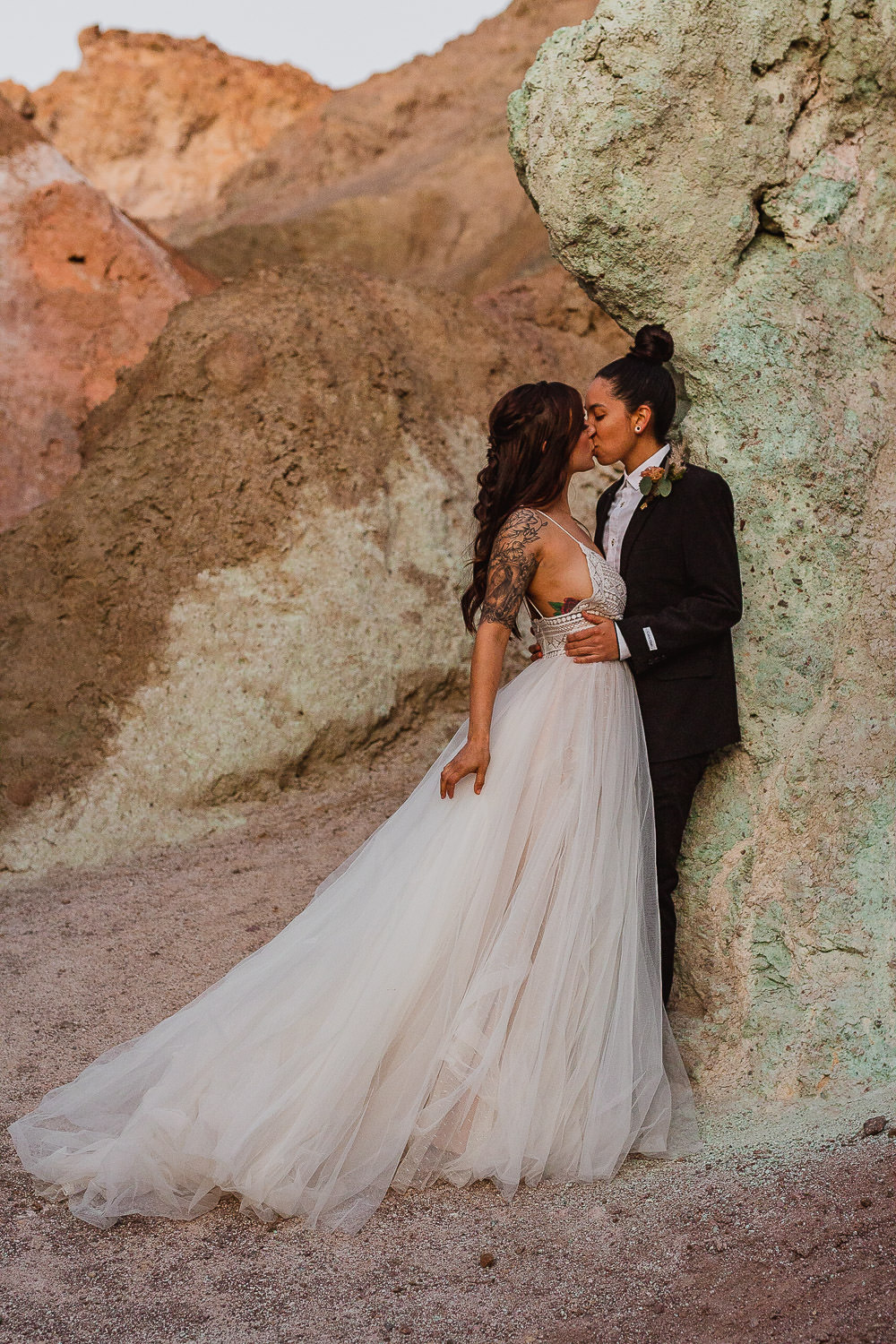 Death Valley Artist's Palette Elopement by Sam Payne Photo