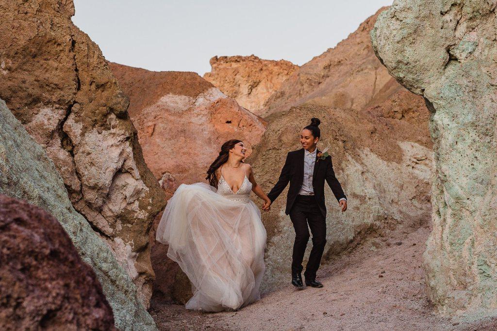 Death Valley Artist's Palette Elopement by Sam Payne Photo