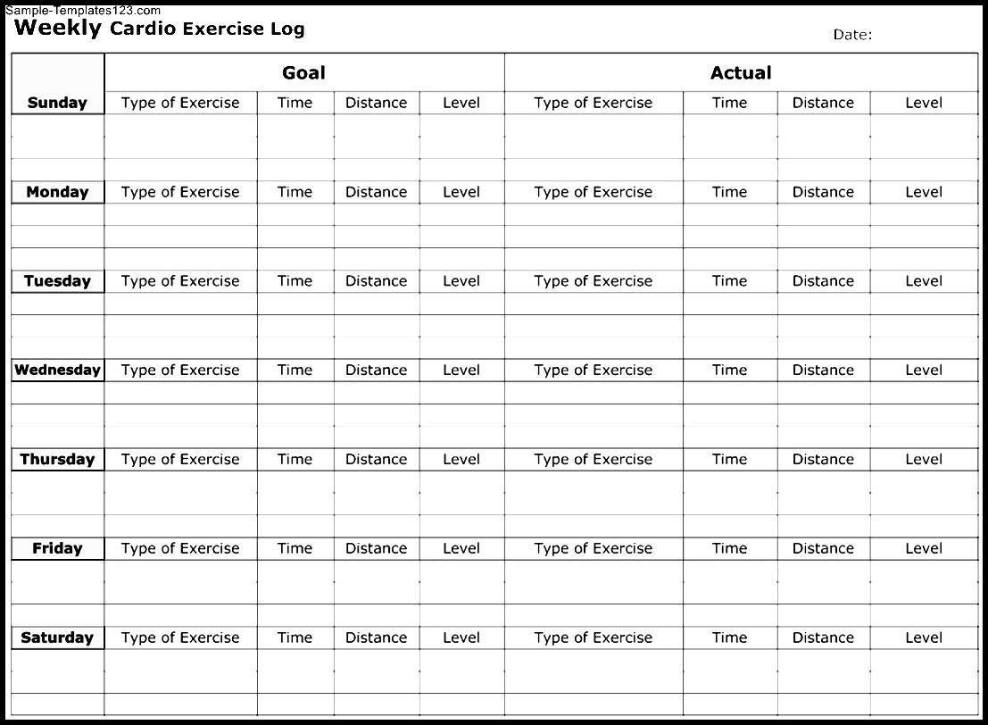 Exercise Log Sheet