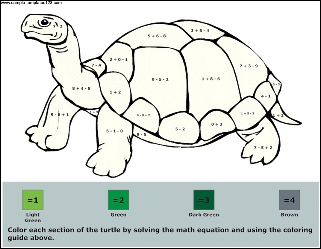 Math Activity Worksheet Template