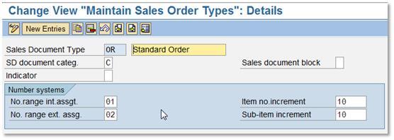 Number Range Setting for Sales Order, Billing, Deliveries and