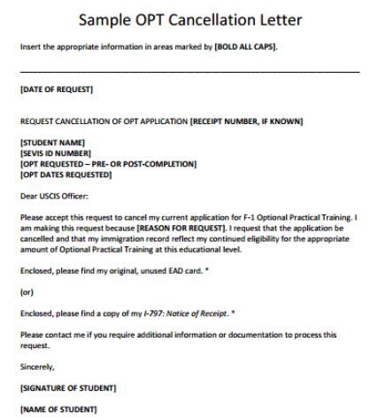 13 sample cancellation letters sample letters word cancellation letter 100 altavistaventures Gallery