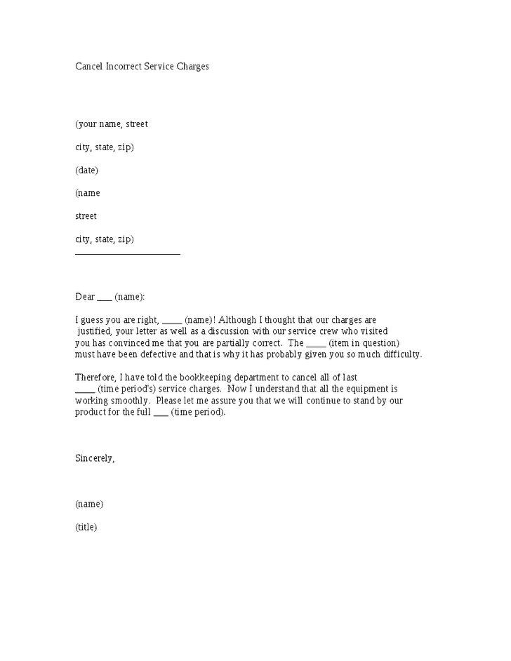 service cancellation letter