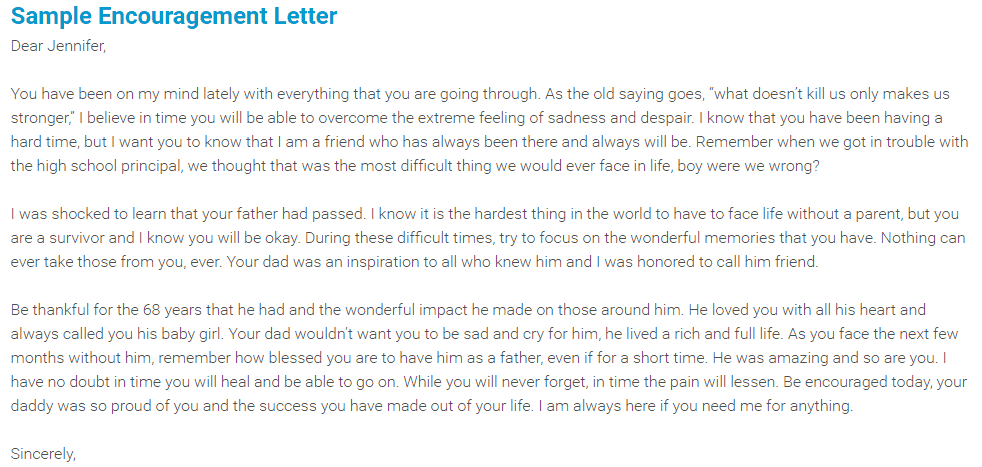 Writing A Compliment Letter