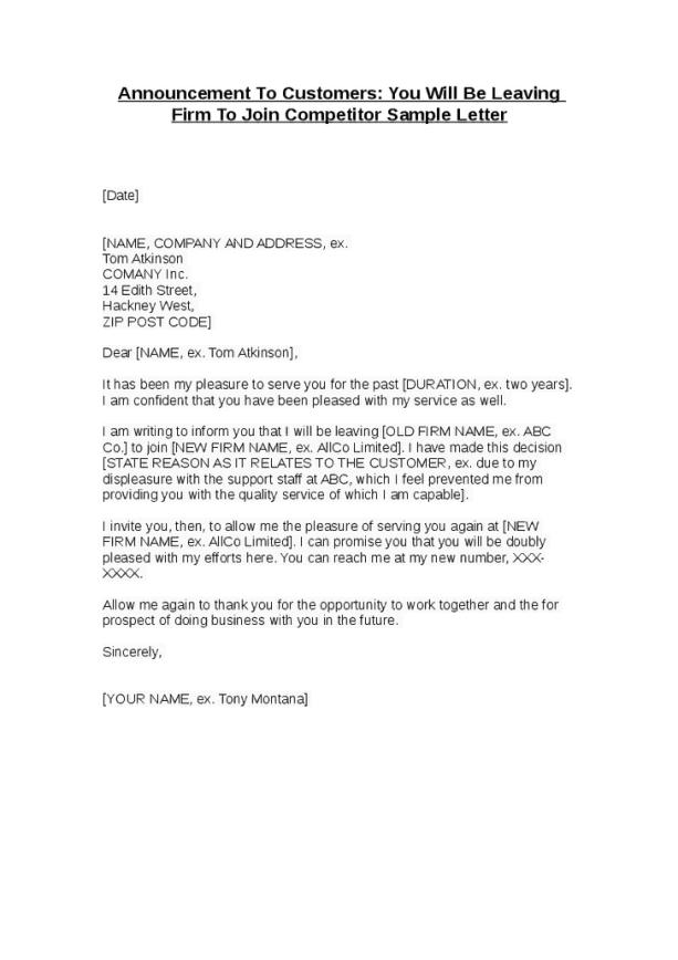 announcement letter 50