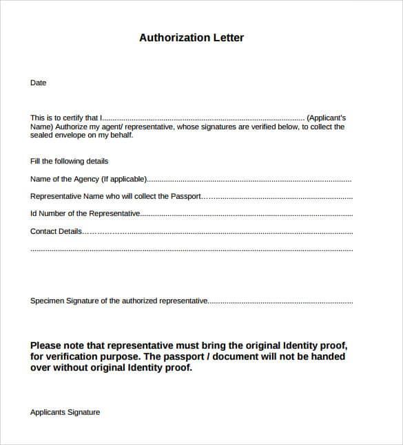 authorize letter