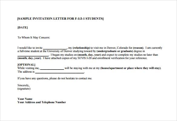 13 Sample Invitation Letters
