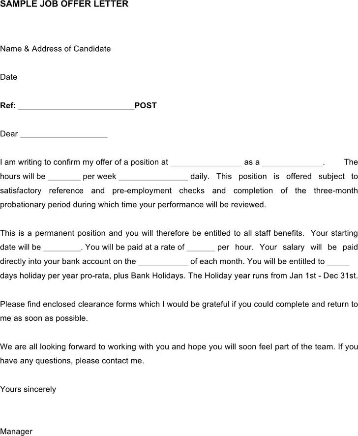 Job Offer Letter 60