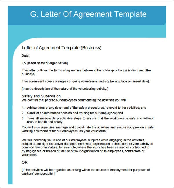 Letter Of Agreement 30