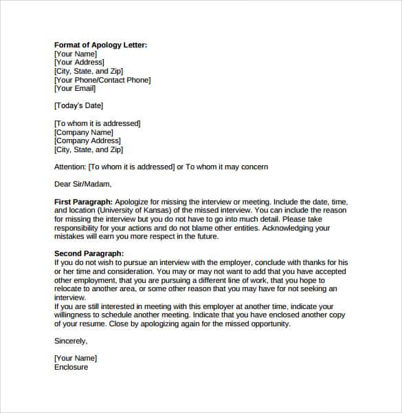 Sorry Letter 10  Apologize Letter For Mistake
