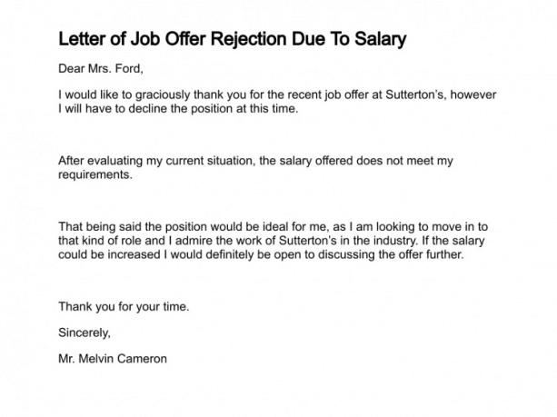 rejection letter sample 008