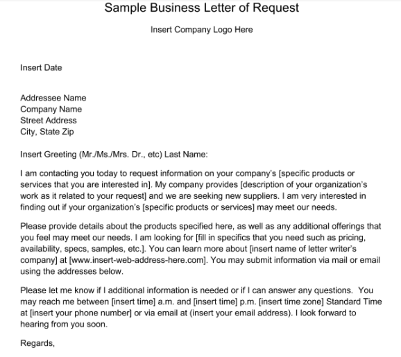 request letter sample 007
