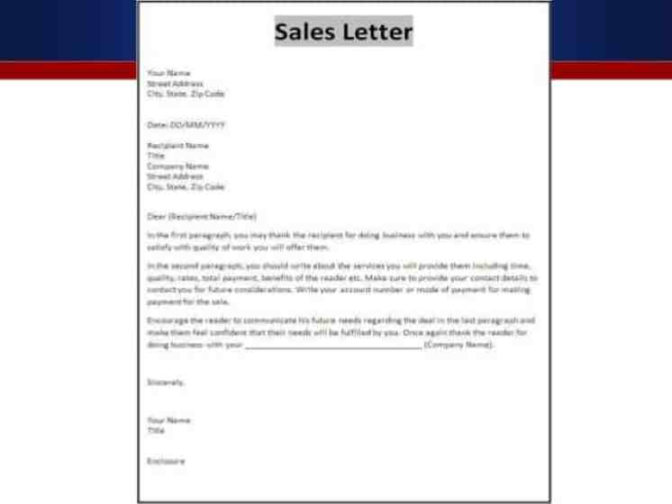 10+ Sample Sales Letters - Sample Letters Word