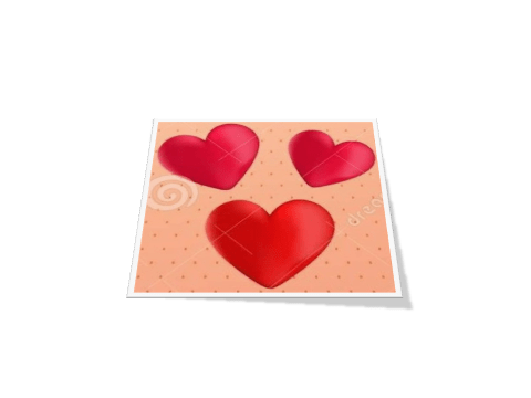 love heart template