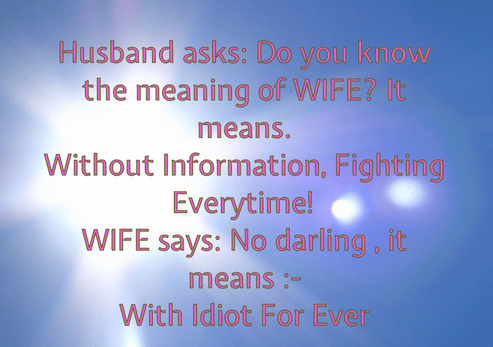 Husband And Wife Funny Jokes With Images Sampleloveletternet