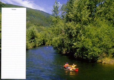 Peaceful July in my Monthly Planner