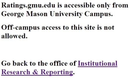Off Campus Ratings Accessibility Message
