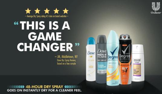 dry deodorant