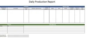 Production report template free formats excel word download production report template pronofoot35fo Image collections