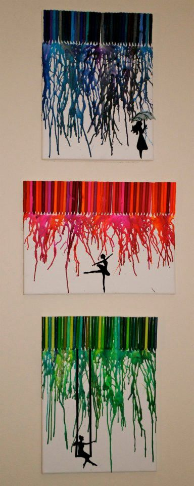 how to save money on decorations with awesome melted crayon art. Black Bedroom Furniture Sets. Home Design Ideas