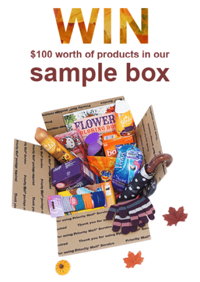 win a $100 freebie sample box