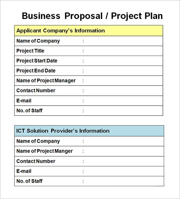 basic project proposal template