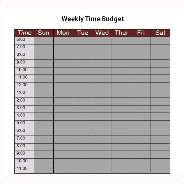 bi weekly budget template
