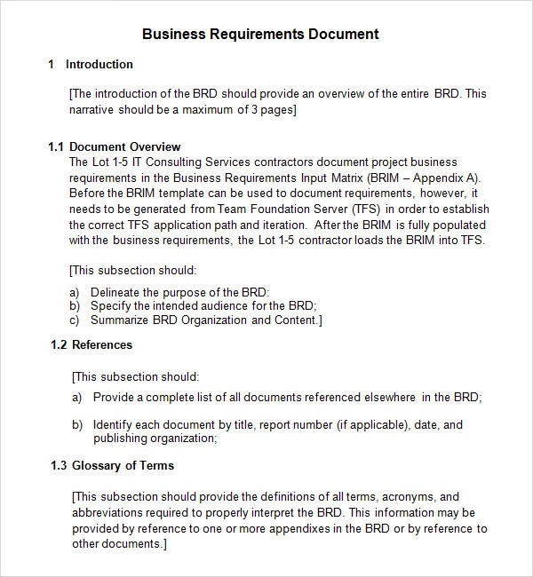 Business Requirements Document 7 Free PDF DOC Download