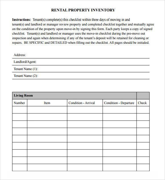sample checklist template word