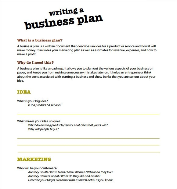 Writing A Business Plan Sample Business Partnership Agreement