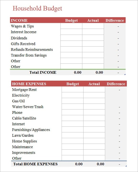 how to do a household budget spreadsheet how to do a household