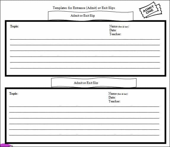 Microsoft Word Ticket Template  Bus Ticket Template