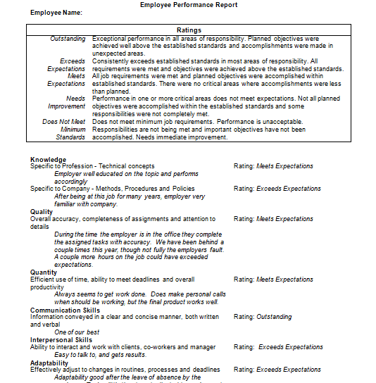 absence report template