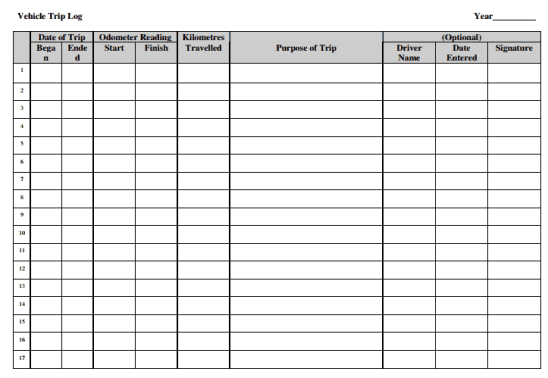 Vehicle Log Book Templates  111