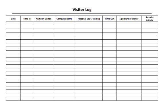 visitors log template 222