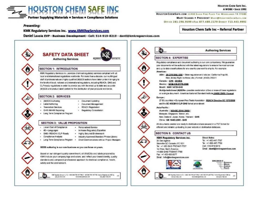 Ghs Safety Data Sheet Template SampleTemplatess
