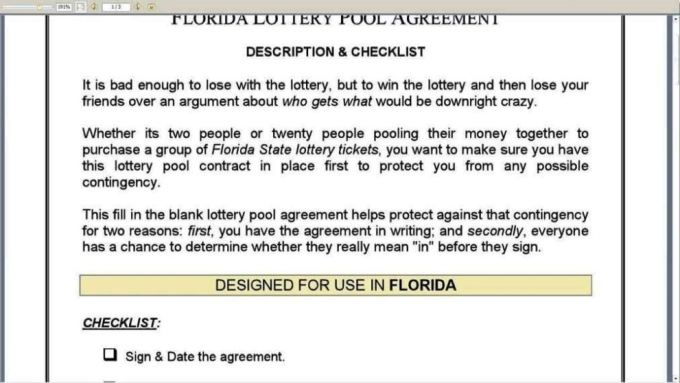 Office Lottery Pool Contract Template Save Template