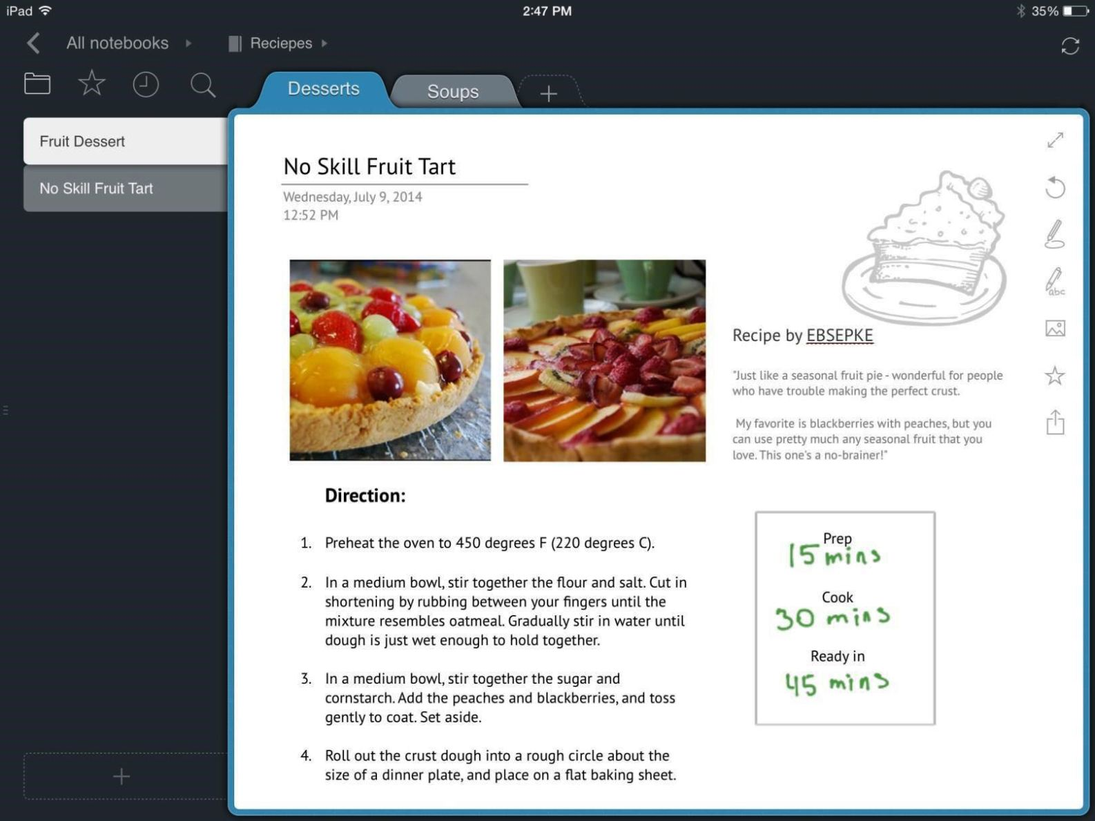 recipe book template mac
