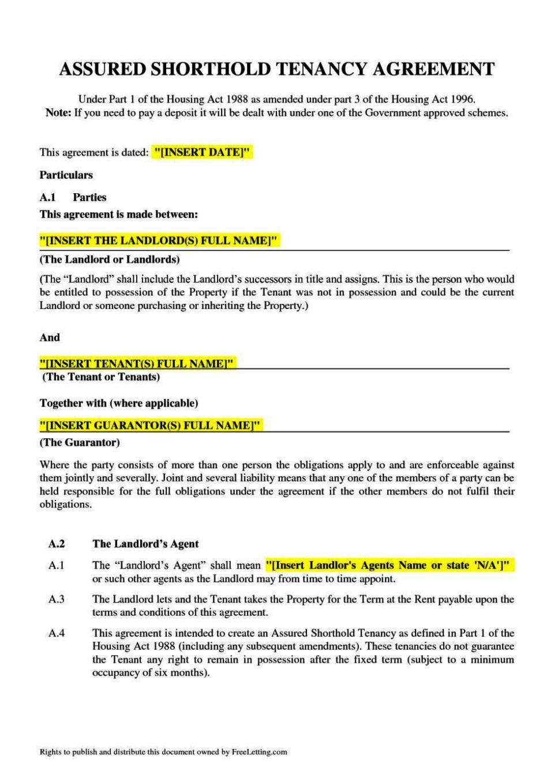 sample tenancy agreement doc