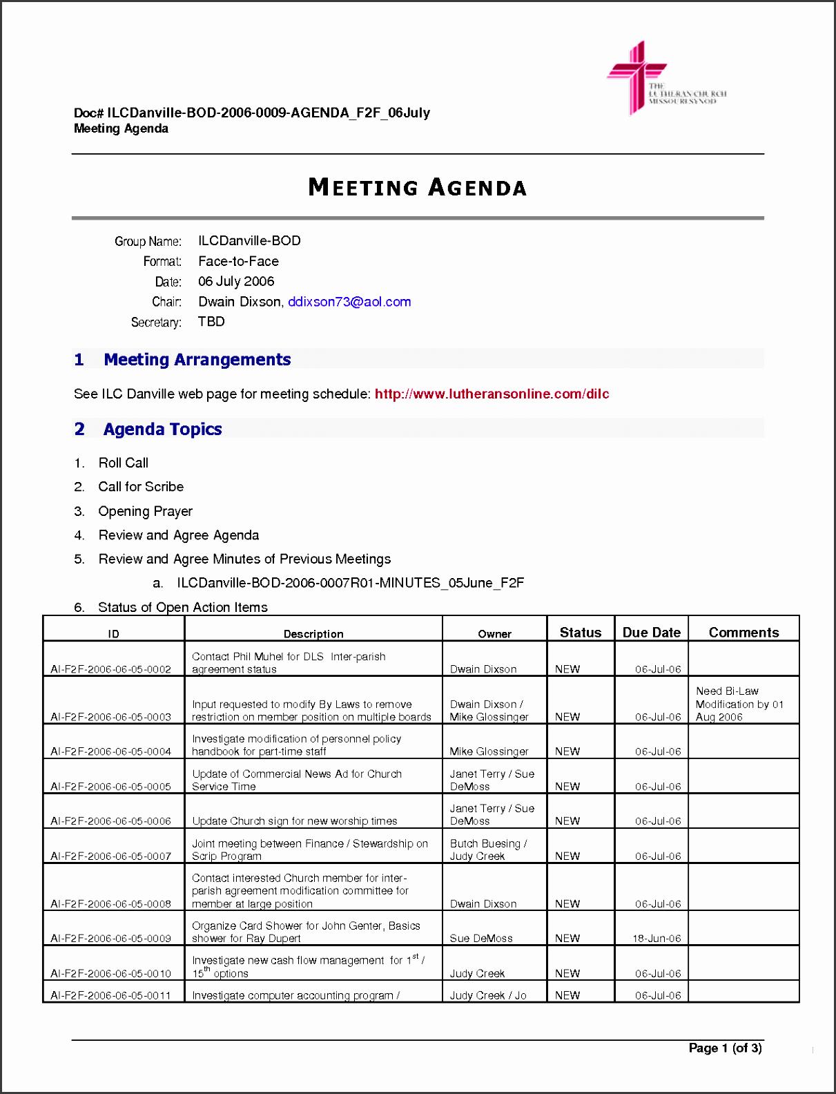 5 Action Plan Sample